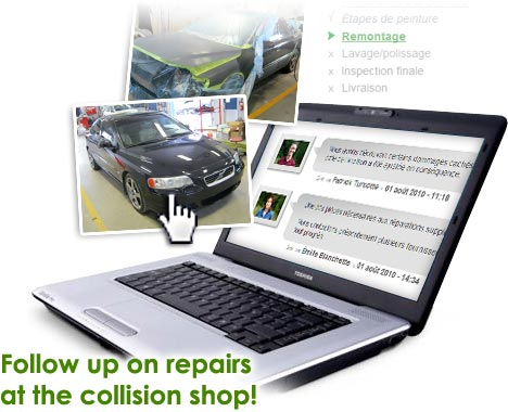 Follow up on repairs at the collision shop!